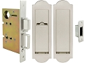Inox PD8460 Mortise Pocket Door Patio Lockset, FH31 Regal Flush Pull