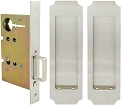Inox PD8010 Mortise Pocket Door Passage w/ Lockcase, FH32 Crown Flush Pull