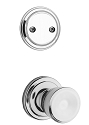 Kwikset 606A-26GC Abbey Signature Series Interior Dummy Handleset INTERIOR TRIM ONLY  Bright Chrome Finish