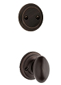 Kwikset 606AO-11P Aliso Interior Dummy Handleset INTERIOR TRIM ONLY Venetian Bronze Finish