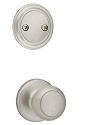 Kwikset 606CV-15V1 Cove Interior Dummy Handleset INTERIOR TRIM ONLY  Satin Nickel Finish