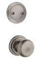 Kwikset 606H-15AGC Hancock Interior Dummy Handleset INTERIOR TRIM ONLY  Antique Nickel Finish