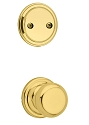 Kwikset 606H-3GC Hancock Interior Dummy Handleset INTERIOR TRIM ONLY  Bright Brass Finish
