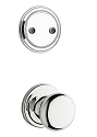 Kwikset 606H-26GC Hancock Interior Dummy Handleset INTERIOR TRIM ONLY  Bright Chrome Finish