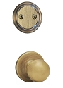 Kwikset 606P-5 Polo Interior Dummy Handleset INTERIOR TRIM ONLY Antique Brass Finish