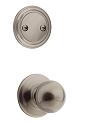 Kwikset 606P-15A Polo Interior Dummy Handleset INTERIOR TRIM ONLY Antique Nickel Finish