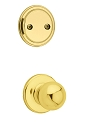 Kwikset 606P-3 Polo Interior Dummy Handleset INTERIOR TRIM ONLY Bright Brass Finish