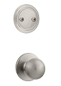 Kwikset 606P-15 Polo Interior Dummy Handleset INTERIOR TRIM ONLY Satin Nickel Finish
