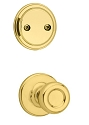 Kwikset 606T-3 Tylo Interior Dummy Handleset INTERIOR TRIM ONLY Bright Brass Finish