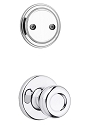 Kwikset 606T-26 Tylo Interior Dummy Handleset INTERIOR TRIM ONLY Bright Chrome Finish