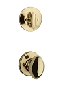 Kwikset 604AO-3 Aliso Interior Single Cylinder Handleset INTERIOR TRIM ONLY Bright Brass Finish