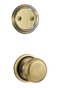 Kwikset 606H-5GC Hancock Interior Dummy Handleset INTERIOR TRIM ONLY  Antique Brass Finish