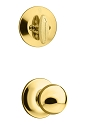 Kwikset 604P-3 Polo Signature Series Interior Single Cylinder Handleset INTERIOR TRIM ONLY Bright Brass Finish