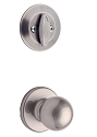 Kwikset 604P-15V1 Polo Signature Series Interior Single Cylinder Handleset INTERIOR TRIM ONLY  Satin Nickel Finish