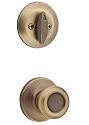 Kwikset 604T-5 Tylo Signature Series Interior Single Cylinder Handleset INTERIOR TRIM ONLY Antique Brass Finish