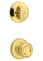 Kwikset 604T-3V1 Tylo Signature Series Interior Single Cylinder Handleset INTERIOR TRIM ONLY  Bright Brass Finish