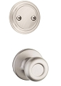 Kwikset 606T-15 Tylo Interior Dummy Handleset INTERIOR TRIM ONLY Satin Nickel Finish