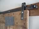Leatherneck Single Barn Door Kit - Clear Coat - 402 Hanger Style