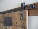 Leatherneck Single Barn Door Kit - Black - 402 Hanger Style