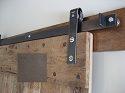 Leatherneck Single Barn Door Kit - Painted Bronze - 402 Hanger Style