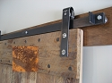 Leatherneck Single Barn Door Kit - Weathered Rust - 402 Hanger Style