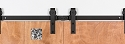 Leatherneck Bi-Parting Barn Door Kit - Machine Polished - 402 Hanger Style
