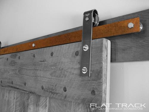Rust Finish Flat Track For Barn Doors