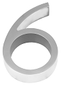 Linnea 5 Inch House Number - 6