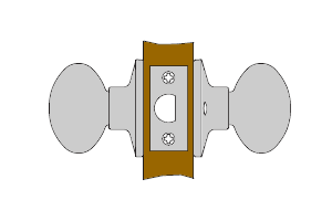 Schlage passage knob function