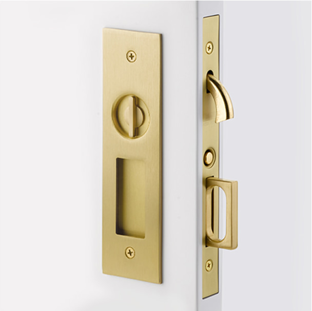 Emtek Narrow Modern Rectangular Pocket Door Mortise Hardware