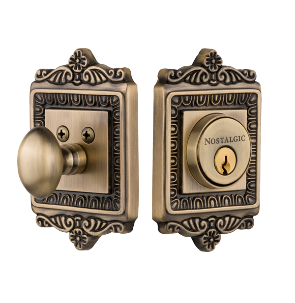 Nostalgic Warehouse Egg and Dart Single Cylinder Deadbolt