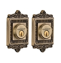 Nostalgic Warehouse Egg and Dart Double Cylinder Deadbolt