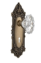 Nostalgic Warehouse Victorian Plate with Chateau Crystal Knob