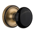 Nostalgic Warehouse Classic Rose with Black Porcelain Knob