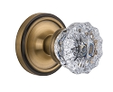 Nostalgic Warehouse Classic Rosette with Crystal Knob - Mortise Lock