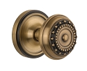 Nostalgic Warehouse Classic Rosette with Meadows Knob - Mortise Lock