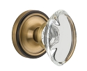 Nostalgic Warehouse Classic Rose with Oval Clear Crystal Knob - Mortise Lock