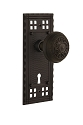 Nostalgic Warehouse Craftsman Plate with Egg and Dart Knob - Mortise Lock