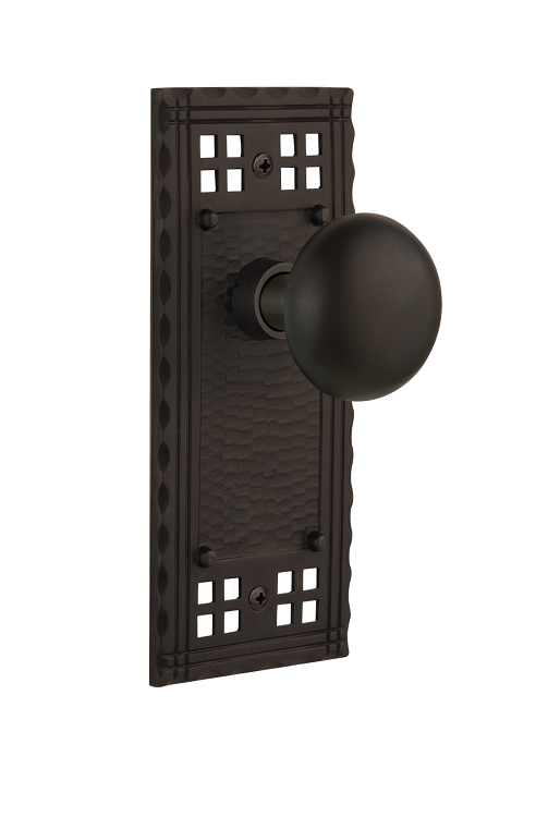 Nostalgic Warehouse Craftsman Plate With New York Knob Direct Door Hardware