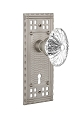 Nostalgic Warehouse Craftsman Plate and Oval Fluted Crystal Knob - Mortise Lock