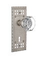 Nostalgic Warehouse Craftsman Plate with Waldorf Knob - Mortise Lock