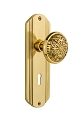 Nostalgic Warehouse Deco Plate with Eastlake Knob - Mortise Lock