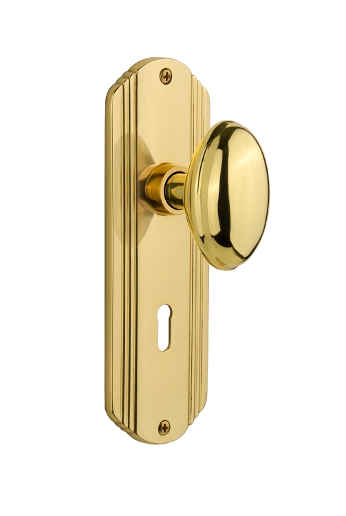 Nostalgic Warehouse Deco Plate with Homsetead Knob - Mortise Lock