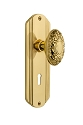 Nostalgic Warehouse Deco Plate with Victorian Knob - Mortise Lock