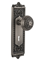 Nostalgic Warehouse Egg and Dart Plate with Egg and Dart Knob - Mortise Lock