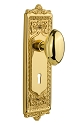 Nostalgic Warehouse Egg and Dart Plate with Homestead Knob - Mortise Lock