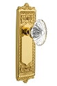 Nostalgic Warehouse Egg and Dart Plate with Oval Fluted Crystal Knob - Mortise Lock