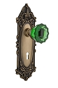 Nostalgic Warehouse Victorian Plate with Emerald Crystal Knob