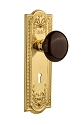 Nostalgic Warehouse Meadows Plate with Brown Porcelain Knob - Mortise Lock