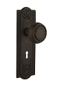 Nostalgic Warehouse Meadows Plate with Mission Knob - Mortise Lock